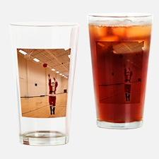 Basketball Santa Drinking Glass