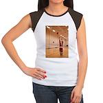 Basketball Santa Women's Cap Sleeve T-Shirt