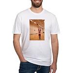 Basketball Santa Fitted T-Shirt