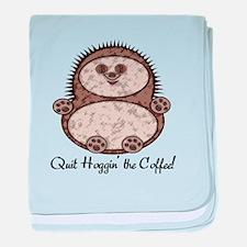 Hedgehoggin' the Coffee! baby blanket