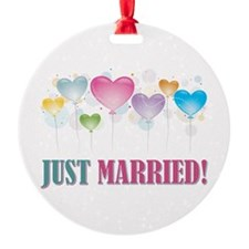 JUST MARRIED BALLOONS.jpg Ornament