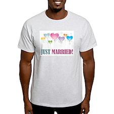 JUST MARRIED BALLOONS.jpg T-Shirt