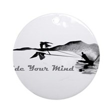 ride your mind waterski swallows Ornament (Round)