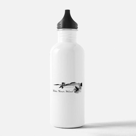 ride your mind waterski swallows Water Bottle