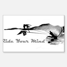ride your mind waterski swallows Decal