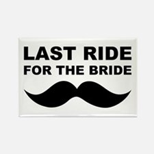 LAST RIDE FOR THE BRIDE Rectangle Magnet (100 pack