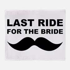 LAST RIDE FOR THE BRIDE Throw Blanket