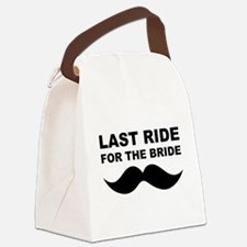 LAST RIDE FOR THE BRIDE Canvas Lunch Bag