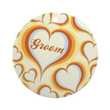GROOVY GROOM Ornament (Round)