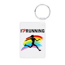 I LOVE RUNNING Keychains