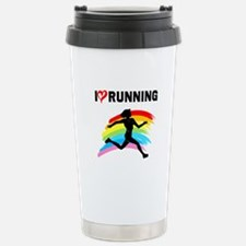 I LOVE RUNNING Stainless Steel Travel Mug