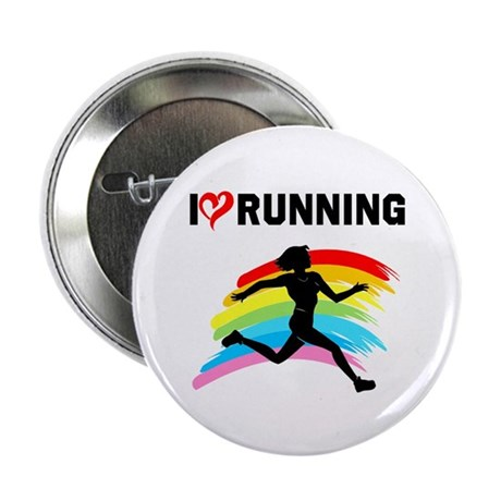 "I LOVE RUNNING 2.25"" Button (100 pack)"
