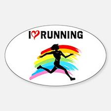 I LOVE RUNNING Decal