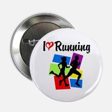 "I LOVE RUNNING 2.25"" Button"