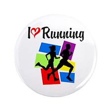 "I LOVE RUNNING 3.5"" Button"