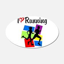 I LOVE RUNNING Wall Sticker