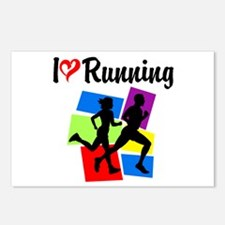 I LOVE RUNNING Postcards (Package of 8)