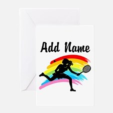 I LOVE TENNIS Greeting Card