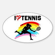 I LOVE TENNIS Decal