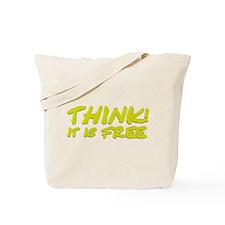 Think (yellow) Tote Bag