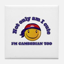 Cute and Cambodian Tile Coaster