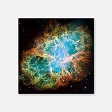 "Crab Nebula (High Res) Square Sticker 3"" x 3"""