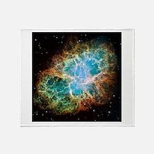 Crab Nebula (High Res) Throw Blanket