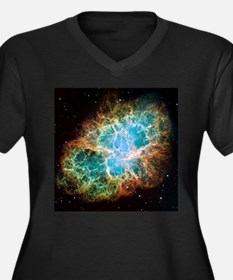 Crab Nebula (High Res) Women's Plus Size V-Neck Da