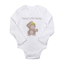Nonna's Little Monkey Long Sleeve Infant Bodysuit