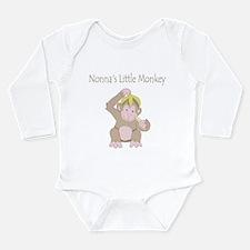 Nonna's Little Monkey Long Sleeve Infant Bodysuit
