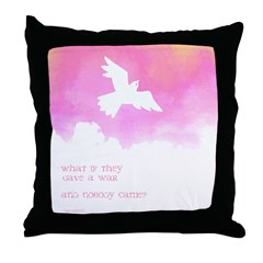 What if they gave a war (Pink) Throw Pillow