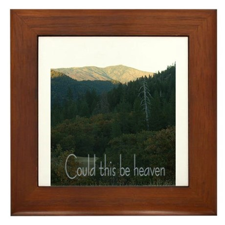 Could this be heaven Framed Tile