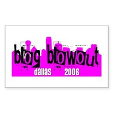 Blog Blowout 2006 Rectangle Decal