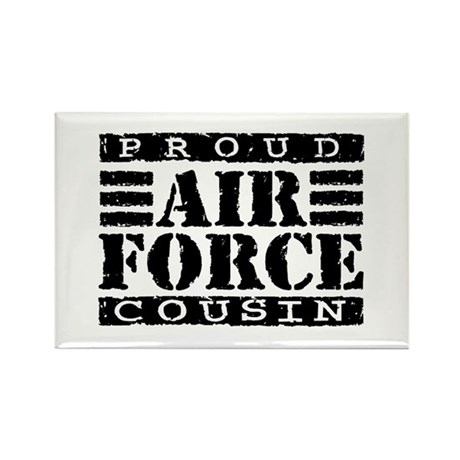 Proud Air Force Cousin Rectangle Magnet