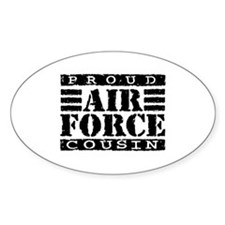 Proud Air Force Cousin Oval Decal
