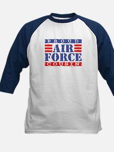 Proud Air Force Cousin Kids Baseball Jersey