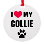 Collie Round Ornament