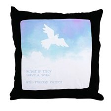 What if they gave a war (Blue) Throw Pillow