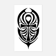 Ankh Tribal Rectangle Decal