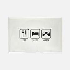 Eat Sleep Game Rectangle Magnet