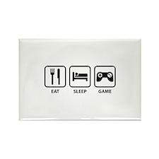 Eat Sleep Game Rectangle Magnet (100 pack)