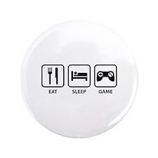 "Eat Sleep Game 3.5"" Button"