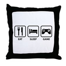 Eat Sleep Game Throw Pillow