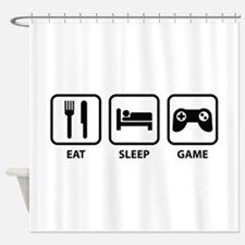 Eat Sleep Game Shower Curtain