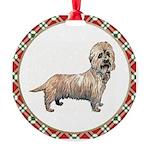 Dandie Dinmont Round Ornament