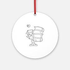 Book Ornament (Round)