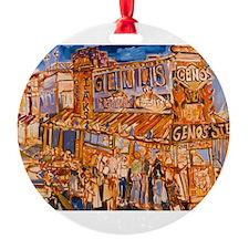 Philadelphia Genos CheeseSteak on 9th Ornament
