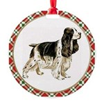 English Springer Spaniel Round Ornament