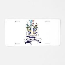 Scottish American Thistle Aluminum License Plate