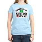 Somebody In Mauritania Women's Pink T-Shirt